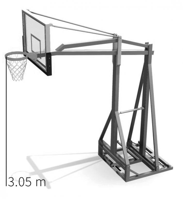 Basketballkorb Höhe